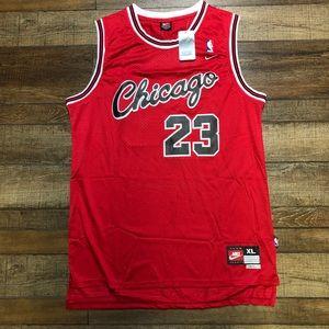 NWT Michael Jordan Script Chicago Bulls Jersey XL
